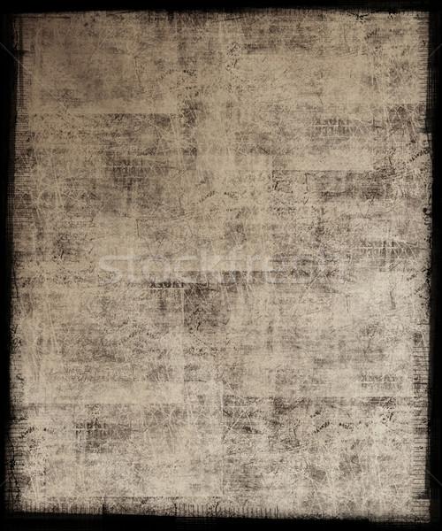 Grunge kirli çerçeve sanat siyah Stok fotoğraf © grivet