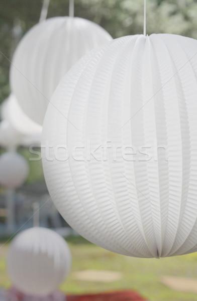 White Decor Balls Stock photo © grivet