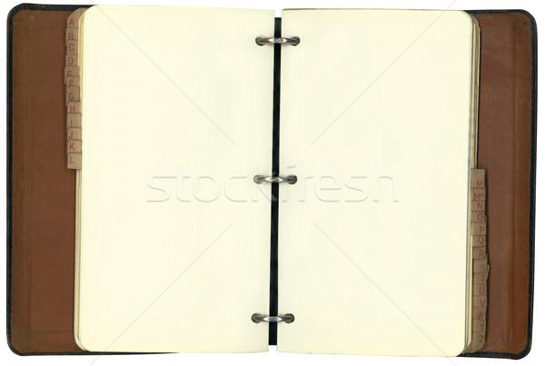 Stock photo: Antique Three Ring Binder Inside