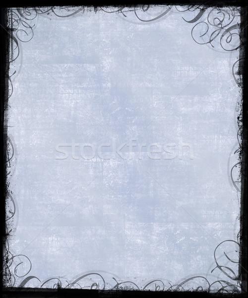 çerçeve eski klasik arka plan mavi Stok fotoğraf © grivet