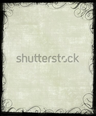 Textured Background with Victorian Frame Stock photo © grivet