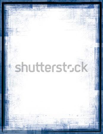 Mavi grunge çerçeve siyah beyaz arka plan mürekkep Stok fotoğraf © grivet
