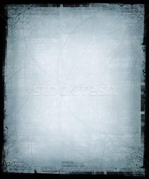 Mavi grunge siyah çerçeve doku Stok fotoğraf © grivet