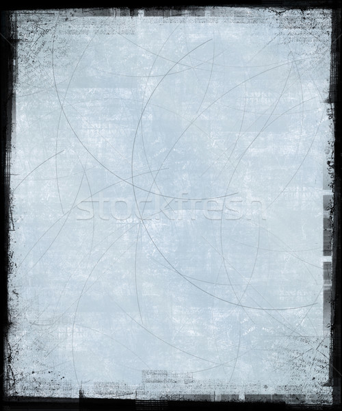 Stock photo: Iced Blue Grunge Background