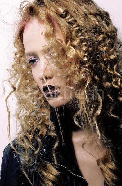 個性 若い女性 女性 ファッション 光 ストックフォト © gromovataya