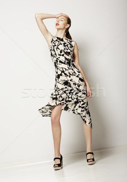 Moda kadın ışık elbise dizayn Stok fotoğraf © gromovataya