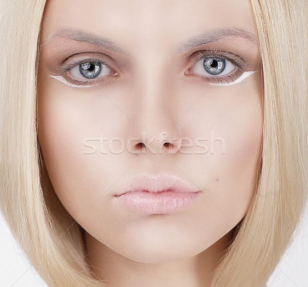 Closeup Portrait of Young Blond Woman Stock photo © gromovataya
