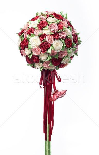 Festive branch of multicolor flowers closeup Stock photo © gromovataya