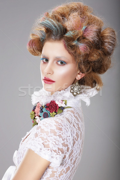 Glamorous Woman with Stylized Fanciful Coiffure Stock photo © gromovataya