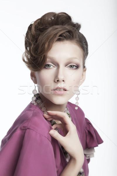 Adorable young woman - cute female studio portrait Stock photo © gromovataya