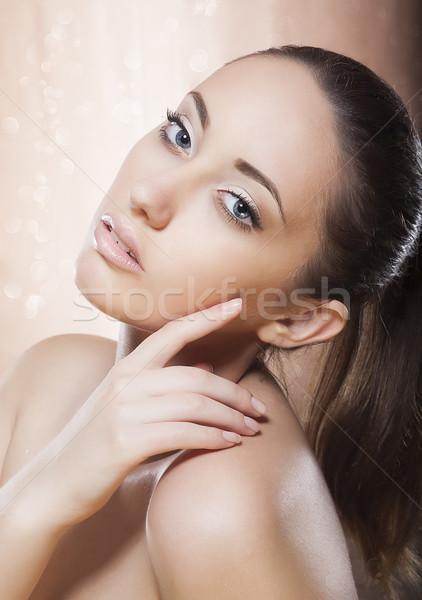 портрет здорового женщину макияж Spa Сток-фото © gromovataya