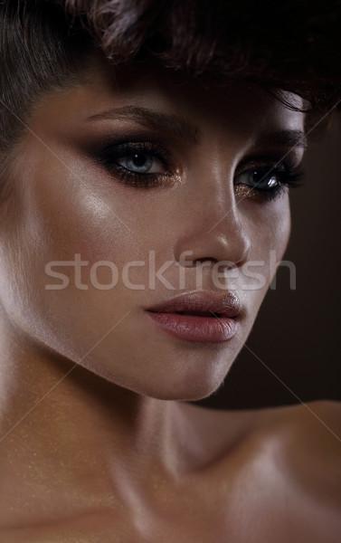 Moda modello buio mascara ragazza Foto d'archivio © gromovataya