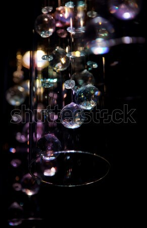 Abstract bright transparent glasses beads Stock photo © gromovataya