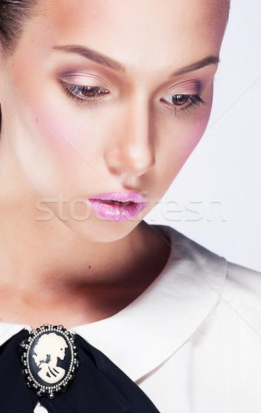 довольно печально женщины портрет Сток-фото © gromovataya