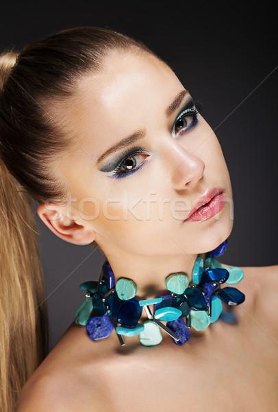 Romantyczny elegancki dziewczyna sieczka Zdjęcia stock © gromovataya