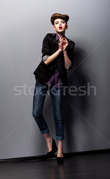 Artistic Female Gesturing and Acting - Performance Stock photo © gromovataya