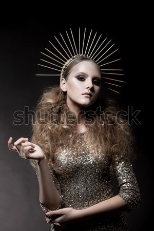 Stock photo: Addict. Beauty fashion girl with a cigarette