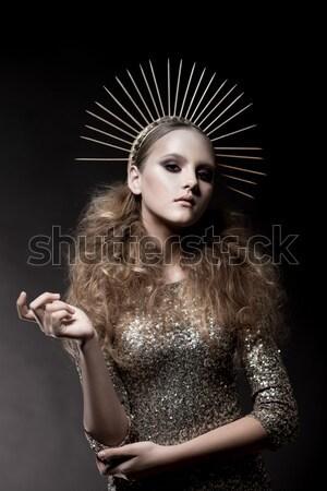 наркоман красоту моде девушки сигарету элегантный Сток-фото © gromovataya