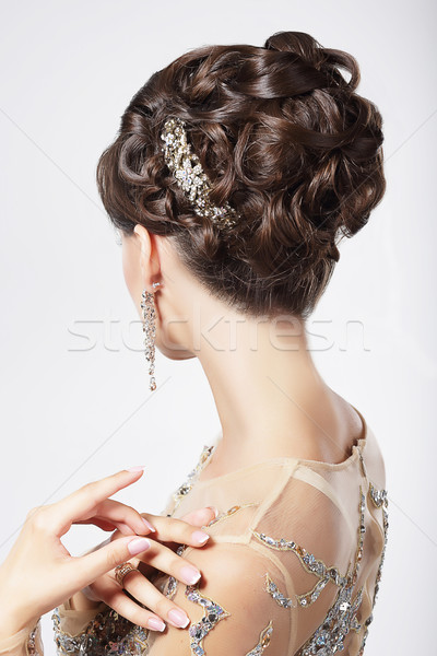 Refinement and Sophistication. Stylish Woman with Festive Coiffure Stock photo © gromovataya