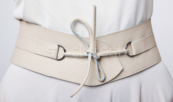 Stylish woman s beige belt with lace Stock photo © gromovataya