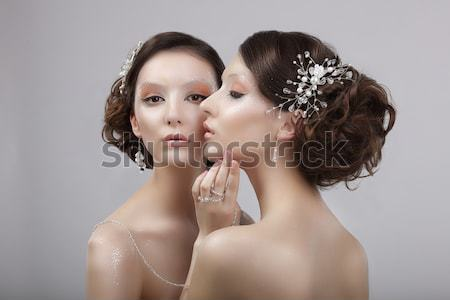 Love. Couple of Sensual Voluptuous Women. Bonding & Sexiness Stock photo © gromovataya