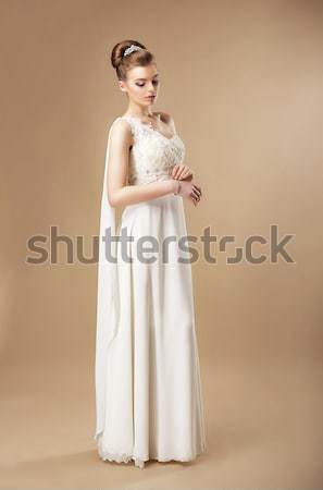 Simplicity. Stylish Woman in Sleeveless Dress Stock photo © gromovataya