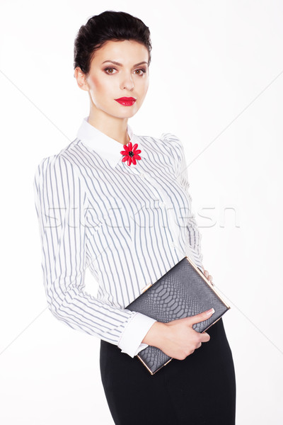 Graduation. Successful intelligent young woman - education concept Stock photo © gromovataya