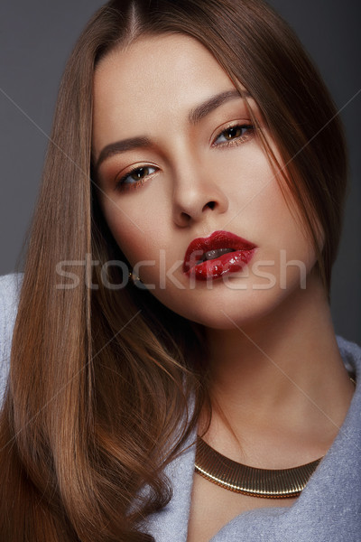 Portrait of Beautiful Nice Looking Well-Groomed Woman Stock photo © gromovataya
