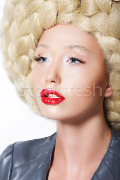 Extravagant coiffure élégant femme Creative art Photo stock © gromovataya