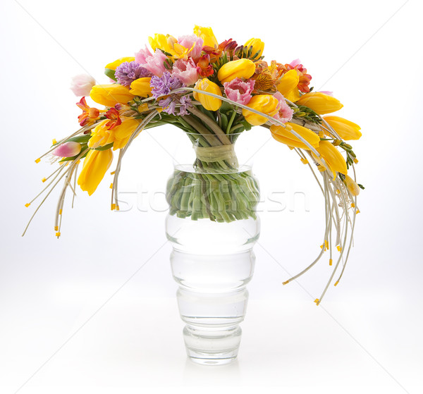 Floristry - colorful vernal flowers bouquet arrangement Stock photo © gromovataya