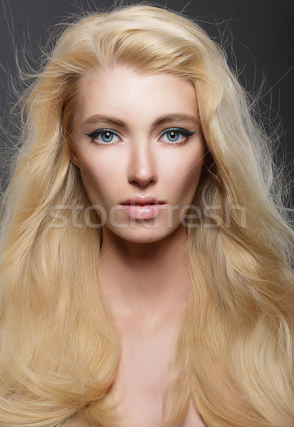 Pure Beauty. Portrait of Young Blonde with Healthy Flowing Hair Stock photo © gromovataya