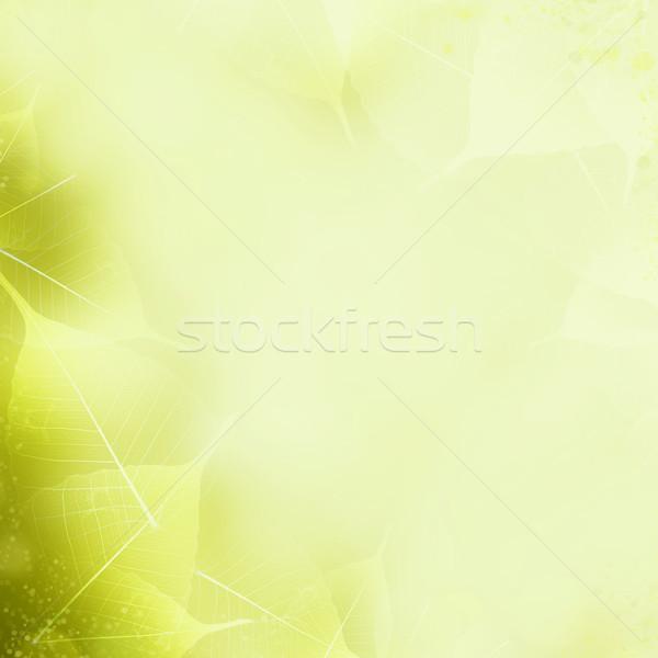 Seamless Yellow - Green Leaves Pattern. Foliage Ornament Stock photo © gromovataya