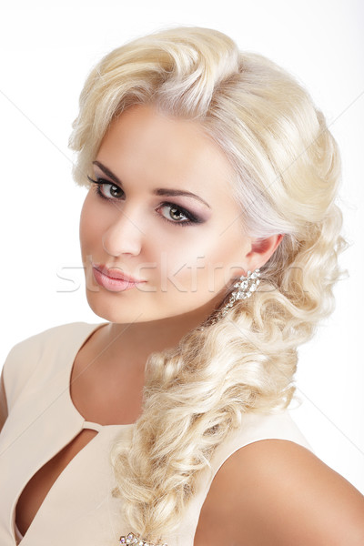 Portrait of Young Glamorous Blond with Tress Stock photo © gromovataya