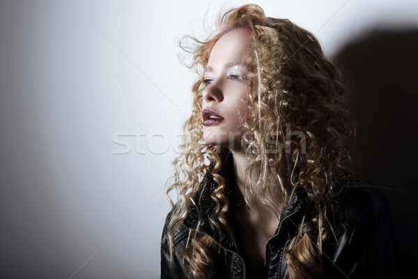 Portrait of Young Woman with Frizzy Hair Stock photo © gromovataya