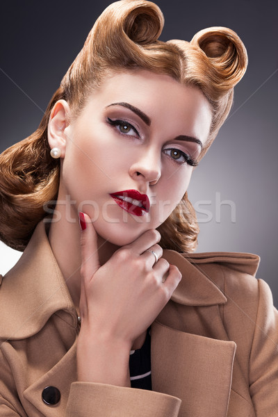 Classy and Trendy Woman in Pin Up Retro Style - Proud Person Stock photo © gromovataya