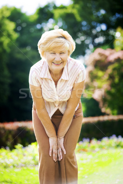 Vitality. Independent Gracious Old Woman Granny having Fun Stock photo © gromovataya