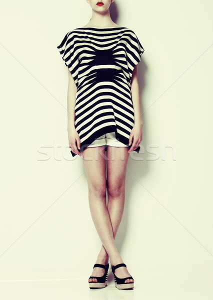 Stock photo: Vogue. Styled Fashion Model in Trendy Clothes. Creative Concept
