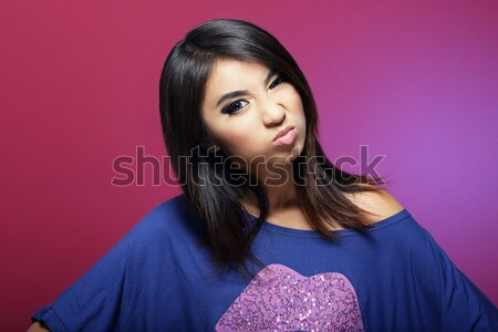 Sensuality. Pensive Calm Asian Woman Dadreaming Stock photo © gromovataya