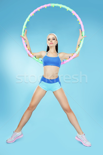 Sportu aktywny sportsmenka dziewczyna ciało fitness Zdjęcia stock © gromovataya