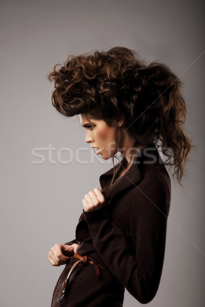 Charisma. Stylish Woman with Unusual Shaggy Hairstyle Stock photo © gromovataya