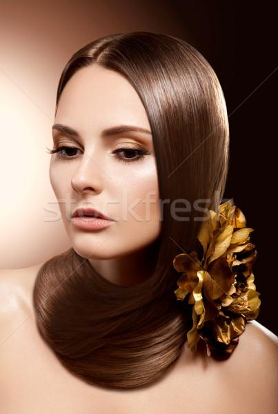 Health, Beauty, Haircare, Cosmetics, Makeup. Beautiful Hairstyle Stock photo © gromovataya