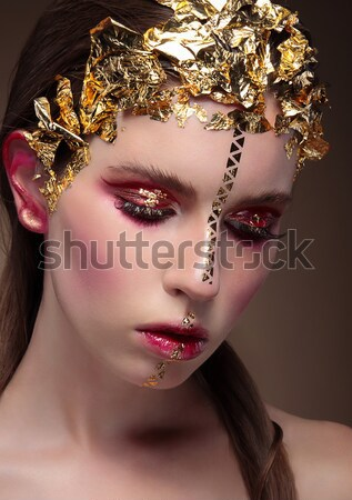 Tenderness. Dreams. Portrait of Romantic Cute Girl. Deluxe Stock photo © gromovataya