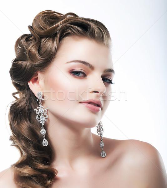 élégante posh femme mariée diamant Photo stock © gromovataya
