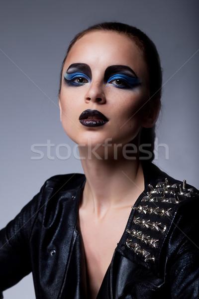 Güzel moda kibirli kadın makyaj Stok fotoğraf © gromovataya