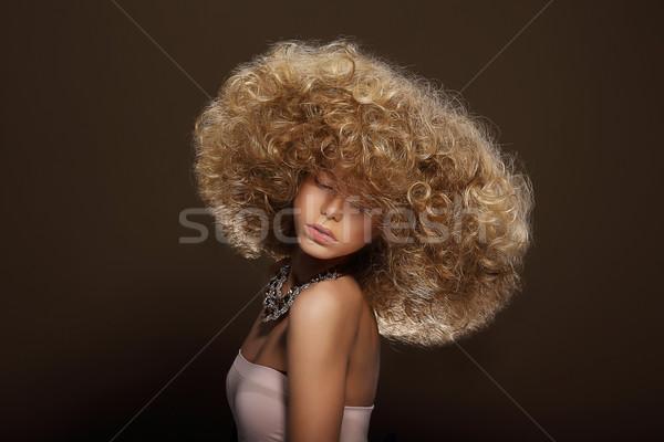 Portrait of Young Woman with Futuristic Hairdo Stock photo © gromovataya