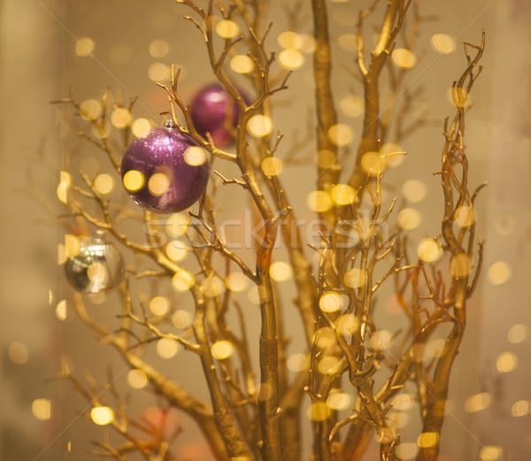 Noel ağacı dekorasyon altın bokeh Stok fotoğraf © gromovataya