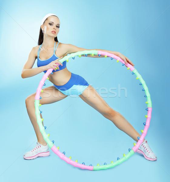 Gimnastyka dopasować kobieta fitness klub sportu Zdjęcia stock © gromovataya