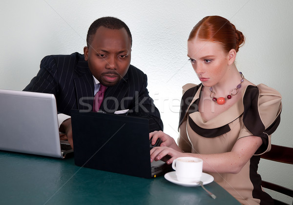 Zdjęcia stock: Działalności · rozmowy · Murzyn · kobieta · spotkanie · biznesowe
