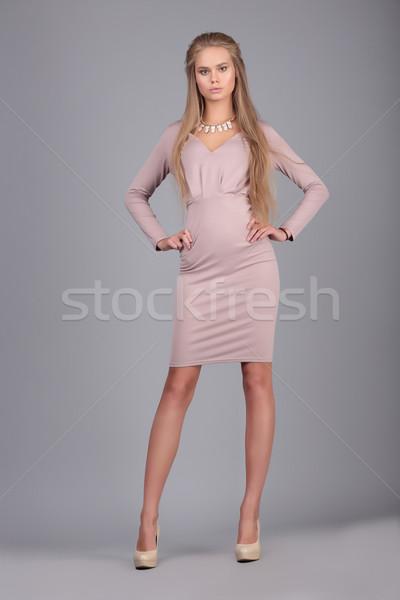 моде фото женщину платье молодые великолепный Сток-фото © gromovataya