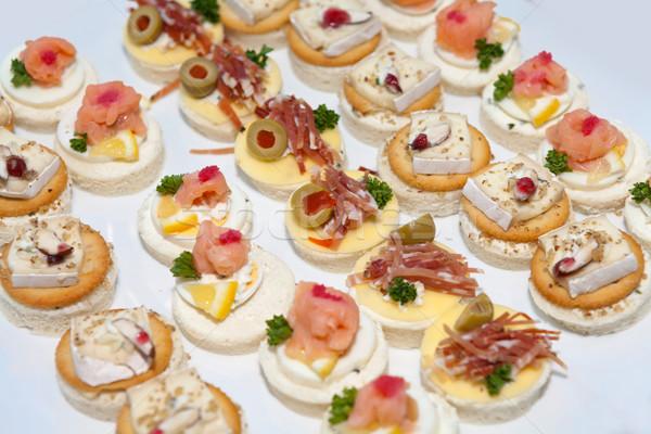 Lezzetli gıda düğün parti otel yumurta Stok fotoğraf © gsermek